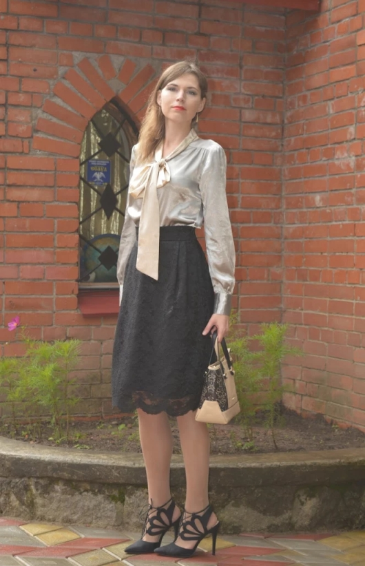 Witty Sweety: Just after rain: one more lace skirt